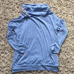 Tops - Long sleeve blue tunic
